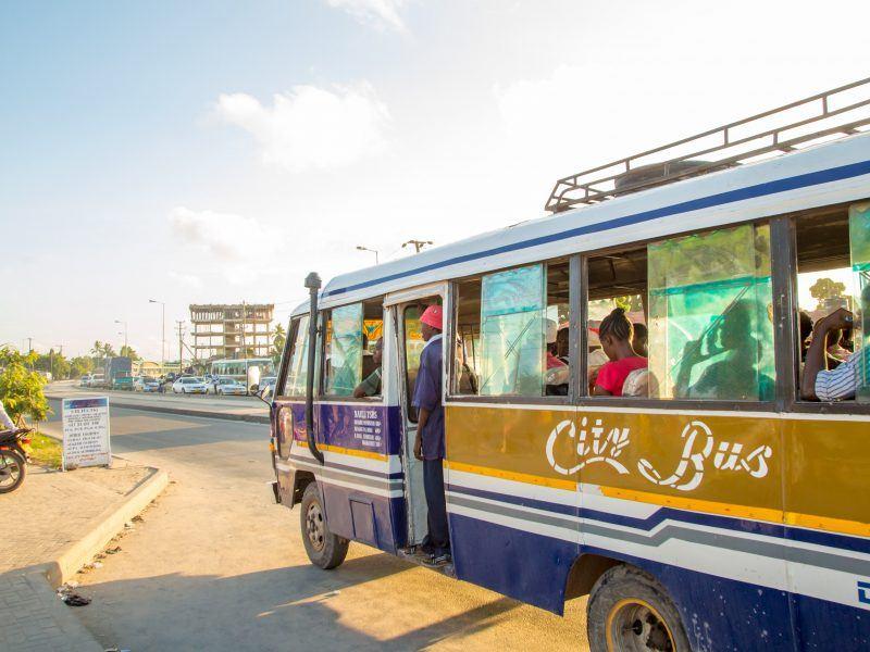 Image of bus in Dar Es Salaam